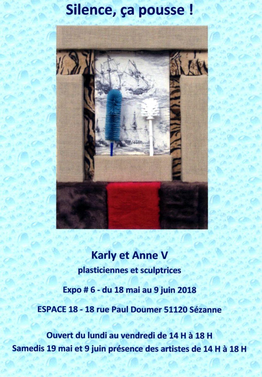 Karly et Anne V, Ecologie, art contemporain, installation, peinture, oeuvres en volumes, dessins, Marson, Sezanne, Espace 18
